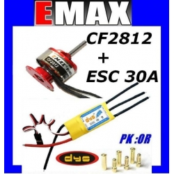 MOTEUR BRUSHLESS CF2812 EMAX 195W + ESC 30/40A DYS TRACTION 800g