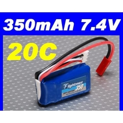 BATTERIE ZIPPY LIGHTMAX 7.4V 350 mha 20C F3P