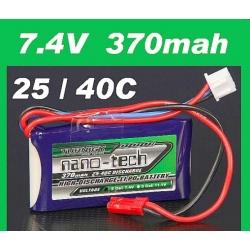 BATTERIE LI-PO NANO-TECH TURNIGY  7.4V 370 mah 25C F3P