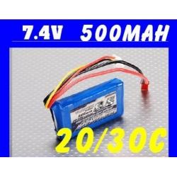 BATTERIE TURNIGY 7.4V 500mha 20C F3P