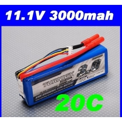batterie lipo 11.1v 3000mah 20C / 30C  TURNIGY