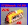 BATTERIE RHINO 4S 14.8V 1750 mah 20C