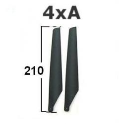 4 PALES DE RECHANGE 2(A) + 2 (B)  POUR HUNTER LAMA V3 V4 APACHE