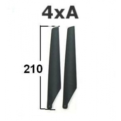 4 PALES DE RECHANGE 4X (A)  DE MARQUE ESKY REF EK1-0360 POUR BIG , MD500 ECT..