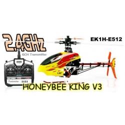 HELICO HONEY BEE KING 3 BLEU 2.4GHZ ESKY COMPLET