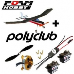 HAWKSKY VERSION B  3 AXES  EPO DYNAM  , BRUSHLESS - LIPO  ARF