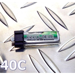 BATTERIE LIPO TURNIGY 1S 3.7V  160mah 40C  NANO-TECH  IDEAL MINIUM  E-FLITE