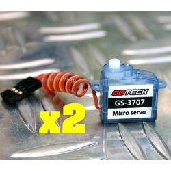 2X DYS  S201  V2 GOTECK GS-3707      3.7gr