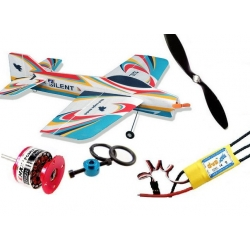 KIT AVION EPP  SILENT RED EAGLE  INCASSABLE COMBO 1