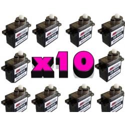 LOT DE 10 SERVOS DYS  S201  V2 GOTECK GS-3707