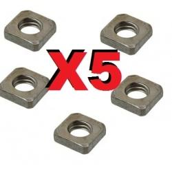 LOT DE 6 STOPEURS  DOMINOS M2  POUR TRINGLERIE JUSQU'A 1.2mm