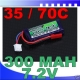 BATTERIE TURNIGY 7.4V 138mha 10C F3P