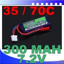 BATTERIE LI-PO NANO-TECH TURNIGY  7.4V 300 mah 35C / 70C F3P