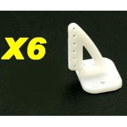 LOT DE 6 GUIGNOLS  NYLON 6 TROUS 20x27mm INDOOR OUTDOOR  LIGHT