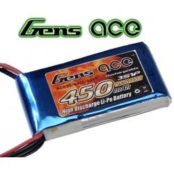 BATTERIE LI-PO GENS ACE  11.1v  450mah  25C / 50C