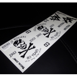 FEUILLE AUTOCOLLANTS  US JOLLY ROGER 300X10