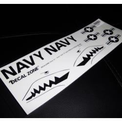 FEUILLE AUTOCOLLANTS  US NAVY REQUIN 300X10