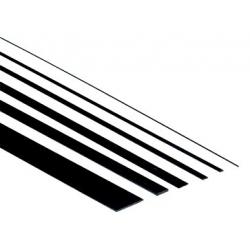 PLAT CARBONE  EPAISSEUR:  0.5mm  LARG: 3mm  LONG: 1 METRE
