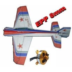 KIT AVION EPP 8mm  3D  YAK 55 CRACK  ROUGE/BLANC/VIOLET  COMBO1
