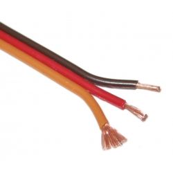 "CABLE  POUR SERVO TYPE JR/GRAUPNER  MARRON + ROUGE + ORANGE "" LE METRE """