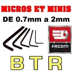 JEU DE BTR six pans MICRO ET MINI BRUSHLESS de  0.7 / 0.9 / 1.30 / 1.5 / 2 mm