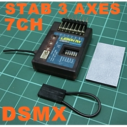 LEMON RX    STABILISATEUR  3 AXES + RECEPTEUR DSM2X  7 VOIES