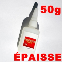 COLLE CIANOCRYLATE ÉPAISSE TYPE SUPER GLUE GRAND FORMAT  50g