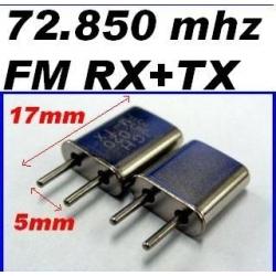 PAIRE DE QUARTZ FM  ESKY FREQUENCE 72.210 mhz