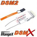 MICRO RECEPTEUR RM601 A   iRangeX    2.4GHZ  6 VOIES + PORT PPM COMPATIBLE DSM2 DSMX SPEKTRUM / JR