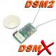 MICRO RECEPTEUR CM410X  REDCON   2.4GHZ  4 VOIES + SORTIE PPM COMPATIBLE DSM2 DSMX SPEKTRUM / JR