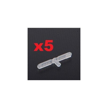 LOT 5   CHAPES NYLON     22 mm   x  percage diametre 1mm  SUPER LIGHT