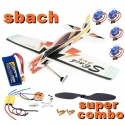 KIT AVION EPP DANCING WINGS SBACH 342 SUPER COMBO