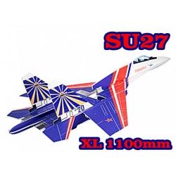 KIT JET DEPRON SU-27 XL PUSHER PARKJET BLEU