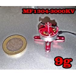 """MOTEUR  BRUSHLESS """"9gr"""" KV3000 MF1304  traction jusqu'a 192gr"""