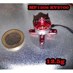 """MOTEUR  BRUSHLESS """"12.52gr"""" KV2700 MF1306  traction jusqu'a 216gr"""