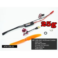 "COMBO """" 91g """"  MICRO BRUSHLESS MC1306 KV2700 +  ESC 10A  TRACTION 216g"