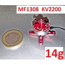 """MOTEUR  BRUSHLESS """"14gr"""" KV2200 MF1308  traction jusqu'a 192gr"""
