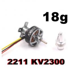 """MINI MOTEUR 2211 BRUSHLESS """"18gr"""" KV2300 traction jusqu'a 330gr"""