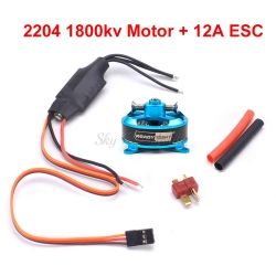 ULTRA LIGHT BRUSHLESS 2204 KV1800 140W +  ESC 10A
