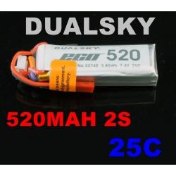 BATTERIE  DUALSKY 7.4V 520mha 25C