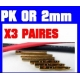 PRISE PK OR PAR 3 PAIRES DIAMETRE 2mm 30A MAXI