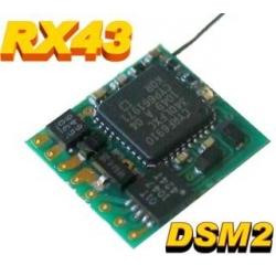 NANO RECEPTEUR  RX43 0.35g  2.4GHZ  4 VOIES  COMPATIBLE DSM2 SPEKTRUM