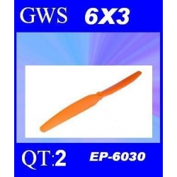 HELICES TYPE GWS EP-6030  6X3 PAR 2 PIECES
