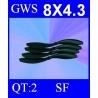 HELICES TYPE GWS 8X4.3 SLOW FLYER PAR DEUX PIECES