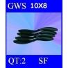 HELICES TYPE GWS 10X8 SLOW FLYER PAR DEUX PIECES