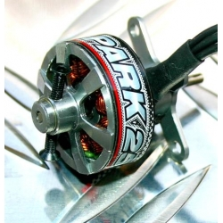 """MICRO MOTEUR PARK250  """"14g""""  KV2200 BRUSHLESS TURNIGY  traction jusqu'a 250gr  50W"""