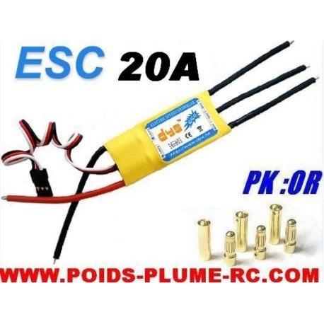 ESC CONTROLEUR BRUSHLESS 20A/25A DYS