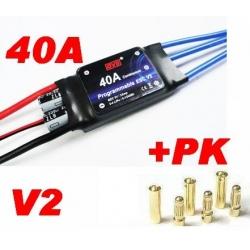 ESC CONTROLEUR BRUSHLESS 40A/50A DYS V2