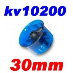 MOTEUR BRUSHLESS KV 10200 + TURBINE DIAMETRE 30mm LIPO 2S  poussée 85g